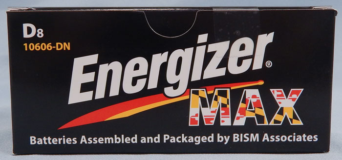 D batteries - Energizer Max packaged by BISM