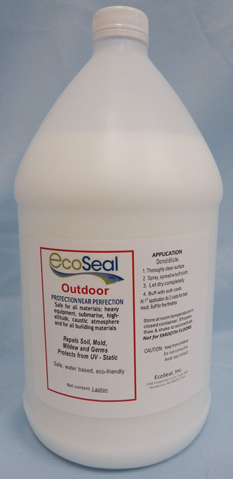 white jug, white label with red outline, EcoSeal label at top