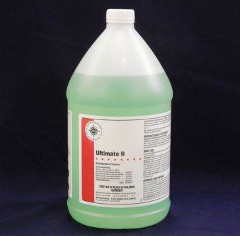 opaque jug with light green liquid inside, white label with red stripe - Ultimate II