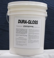 white bucket, white label - DURA GLOSS