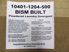 white label on case - BISM Built Detergent
