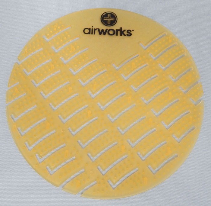 Airworks brand urinal screen - yellow