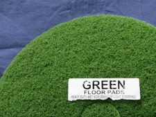 top half of green floor pad, label displayed