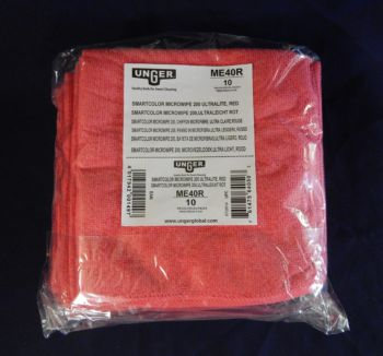 red cloth pads in packaged bundle