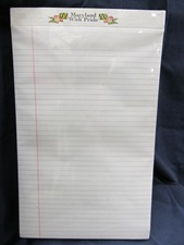 large paper pad, ruled white, Maryland With Pride branding at top