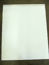 large easel pad, white, non-ruled, no branding