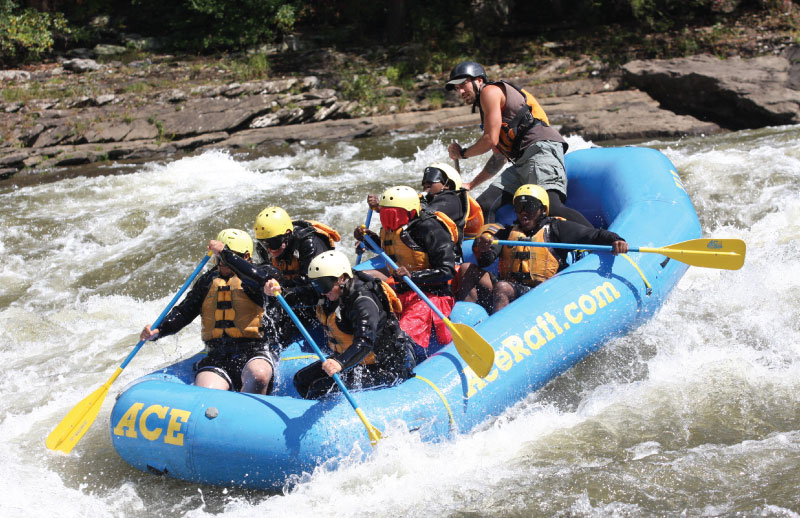 CORE students on a white-water rafting trip