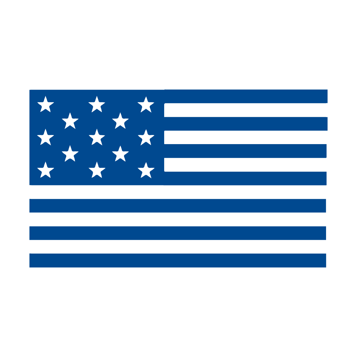 Federal Services link - Simple all-blue american flag