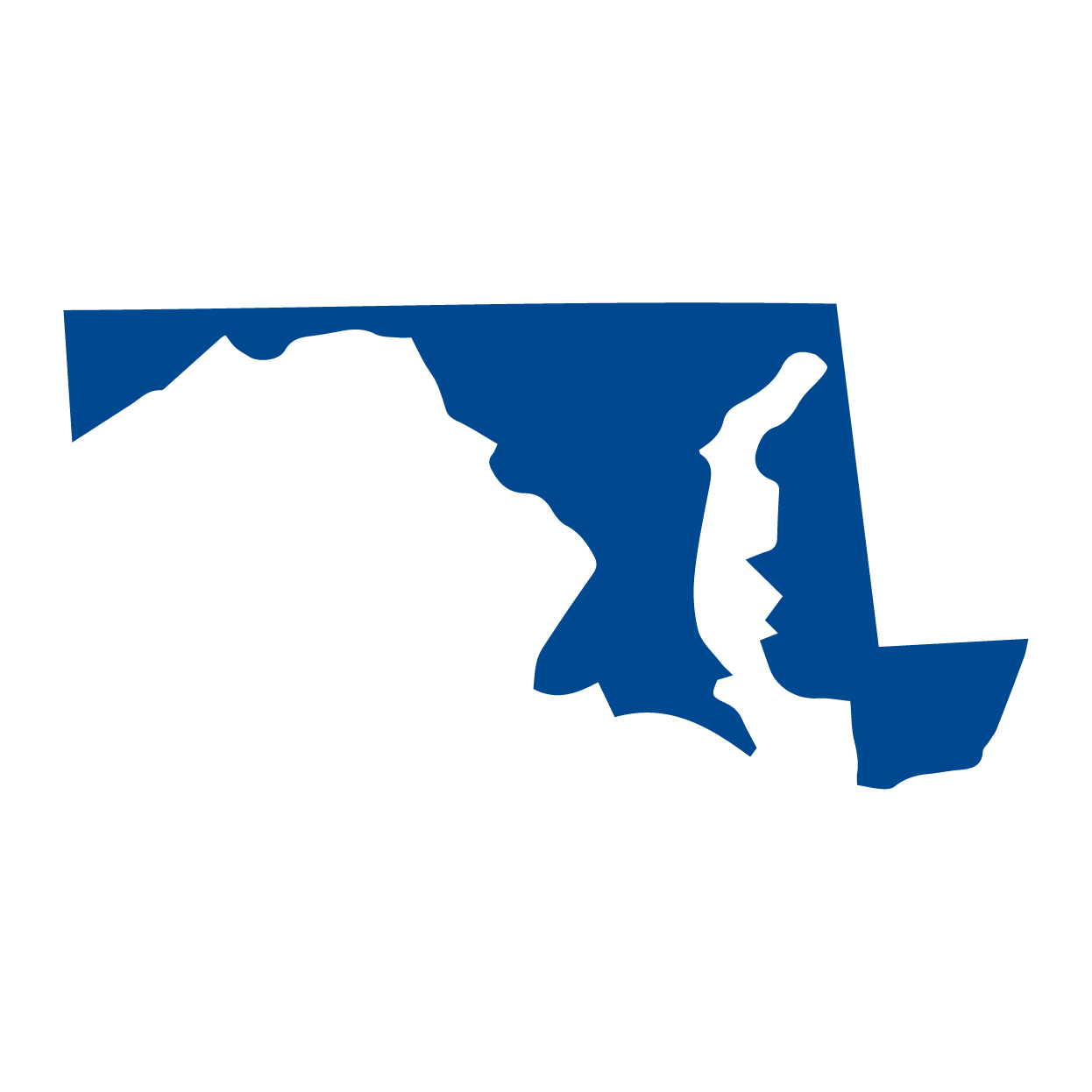 State Services Link - blue silhouette of Maryland